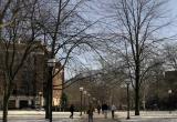 University of Michigan campus in winter