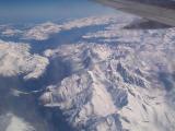 Chamonix valley from plane
