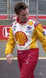 Jimmy Vasser after the crash