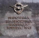 To the Pilots Defenders of Belgrade April 1941