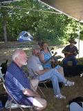John, Jamie, Betsy and Doug enjoying the shade.