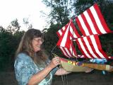234 Sue Balsiger with her very cool kite!
