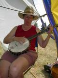 268 Carol Piening on banjo.