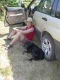 292 Shug and Carol found a bit of shade.