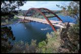 Pennybacker Bridge over lake Austin, Austin, TX