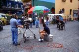 TV crew in the La Boca neighborhood