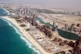 Aerial of the Jumeirah Beach Residence construction
