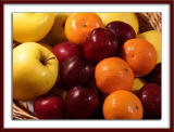 Golden apples, plums and clementines..