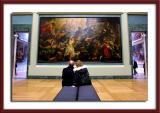 Staring at Rubens painting