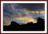Sunset over Paris roofline