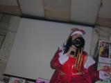 Karioke santa w/ bullhorn