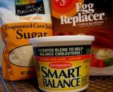 Sugar, Egg Replacer & Non-Hydrogenated Margarine
