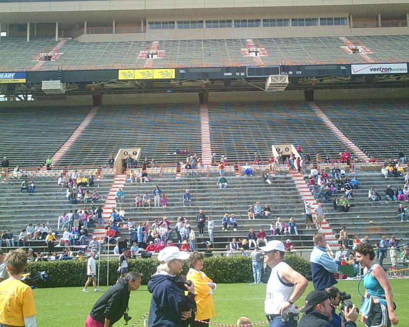 Spectators in the stands at Neyland Stadium