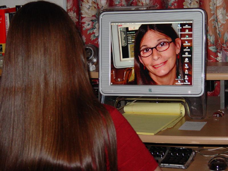 Watching Helen, or Helen Watching? (Self-Portrait Challenge)
