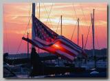 patriotic sunset