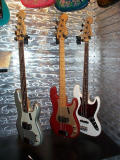 Two super fine relic P Basses and a J Bass