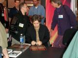 Eric Johnson signing autographs