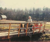 Leaving the site of his future magnolia garden at Tranquility Place, c1980