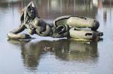Turnhout (Belgium)Najade (1991)Godin uit de Griekse mythologie, uit brons - kunstwerk van Rik Poot
