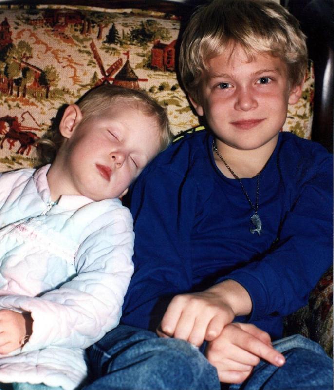 Sarah and big brother Tim