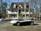 The Healey helps the house look good
