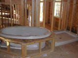The Jacuzzi positioned in surround