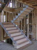The new stairway constructed
