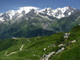 Massif du Mont Blanc vu du col du Joly