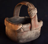 Pit fired basket (early)-Jane Hatcher