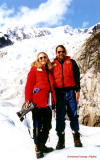 Peg & Clayton on a Glacier
