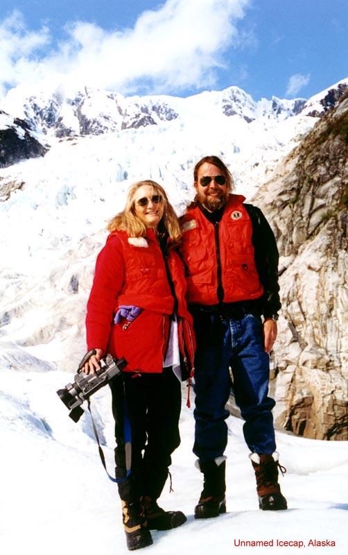 Peg & Clayton on a Glacier