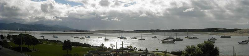 Morro Bay clouds panorama