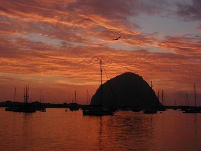 Morro Bay July sunset
