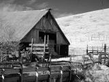 Barn and bridge (infrared)