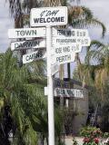 Alice Springs Motel Signs.