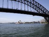 Opera House Framed by Bridge