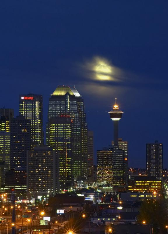 Calgary Moonrise