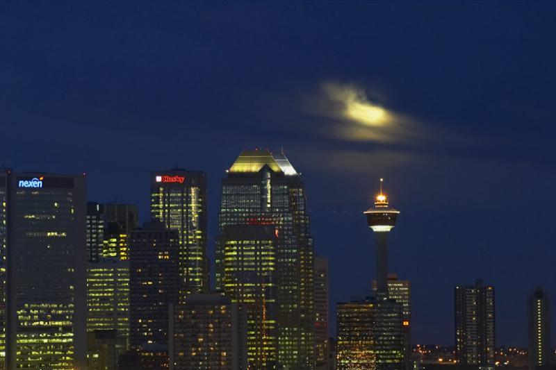 Calgary Moonrise #2