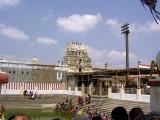 view of the Thiruputkuzhi gopuram and the pushkarini.JPG