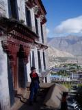 Liu Fang on the steps of the Potala. She is one of my travel mates on this trip.