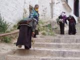 Devotees climbing up to the Potala.