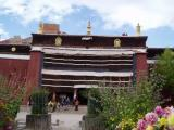 Entrance to the Assembly Hall of the Pelkor Chode Monastery.