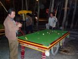 Open air billard tables are very popular over here.