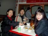 Liu Fang, Brother Wu and Grace. Breakfast in Xining.