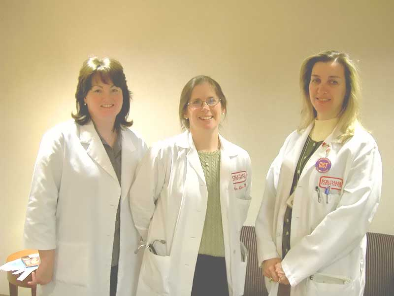 Teri, Dr. VM, Monica- Trial nurses