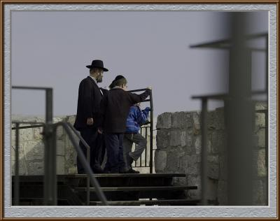 Observing Jerusalem from the tower