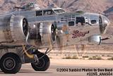 Confederate Air Force's B-17G Sentimental Journey N9323Z at the Aviation Nation practice Air Show stock photo #2295