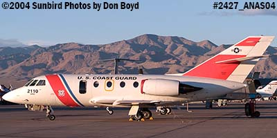 2004 - USCG HU-25A Falcon #2110 at the Aviation Nation Air Show stock photo #2427
