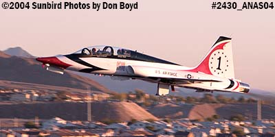 Ross Perot Jr.s T-38A Talon N38MX (ex NASA N5784NA) at the Aviation Nation practice Air Show stock photo #2430