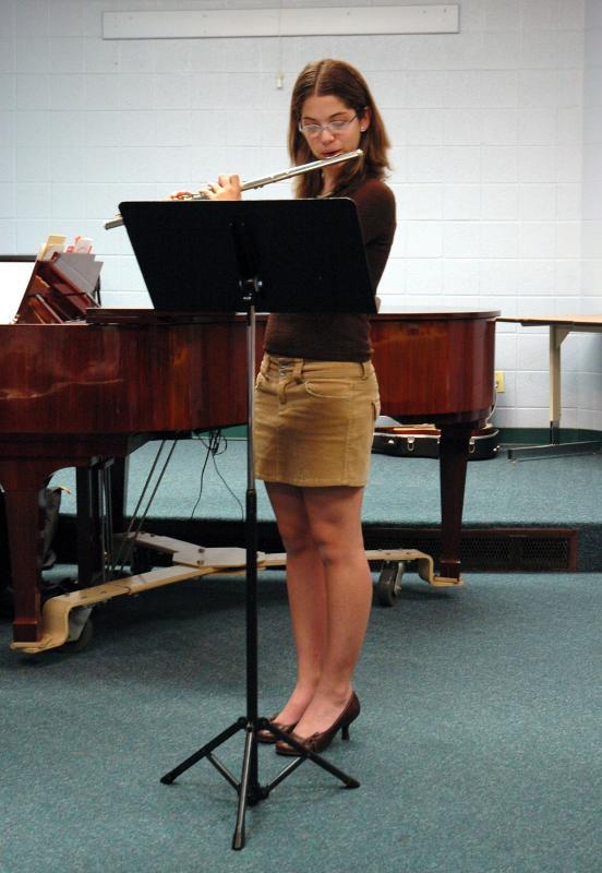 Sam at a recital